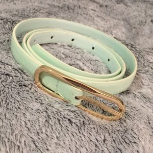 Accessories - Teal skinny belt